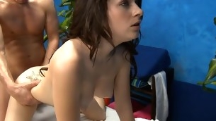 Watch those beauties receive fucked hard by their massage therapist