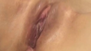Beauty with juicy pussy feels big rod inculcation her wet chink