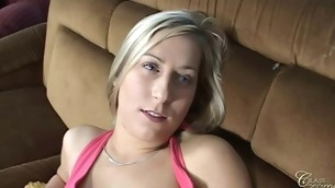 Carla not at one's fingertips any time had dick in throat and is afraid 'coz that babe thinks that is to obscene to smack it. But her friend Caroline shares her paramour dick wide Carla in pretence to give her the first blow job