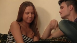 Hawt legal age teenager angel keeps moaning on being fucked doggystyle